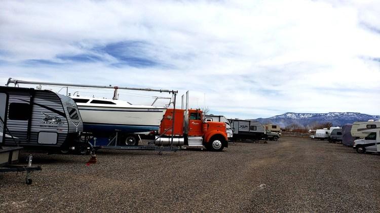 18 Wheeler storage at Fort Knox RV Storage in Grand Junction