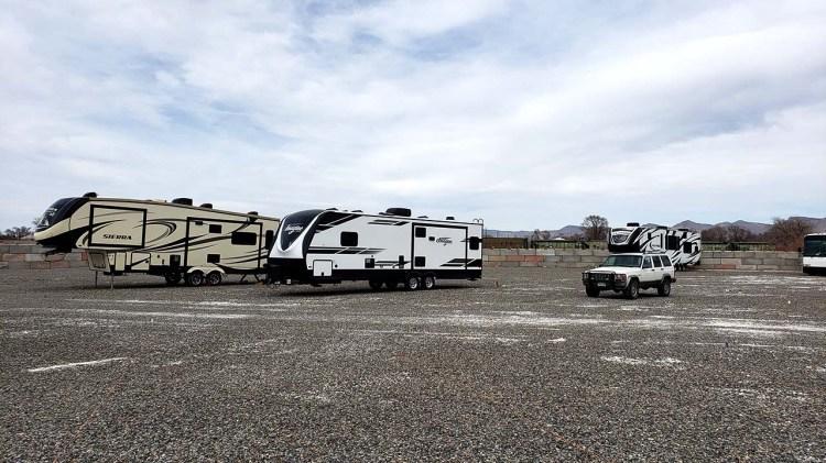 Gravel Yard of Fort Knox RV Storage in Grand Junction