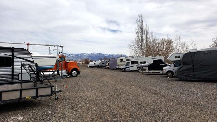 Fort Knox RV Storage in Grand Junction Yard