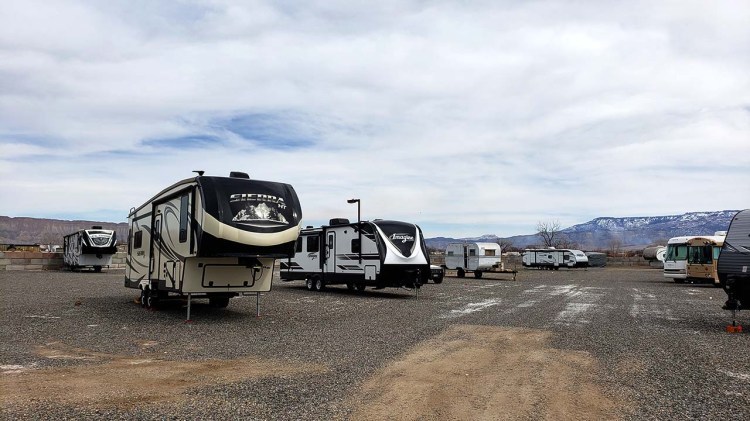 Fifth wheel Storage at Fort Knox RV Storage in Grand Junction