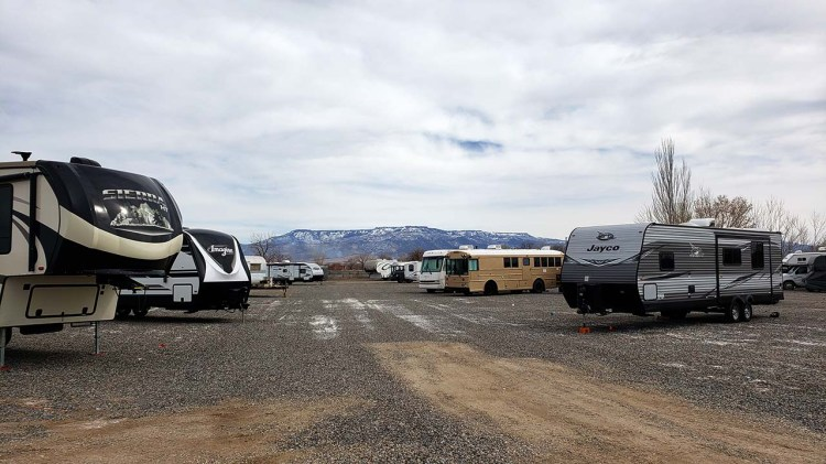 Toy Hauler Storage at Fort Knox RV Storage in Grand Junction