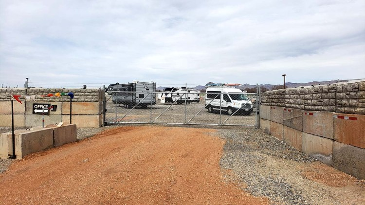 Electronic Gate at Fort Knox RV Storage in Grand Junction